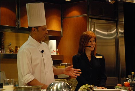 Melissa and cruise ship baking demo