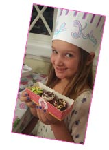 Girl and chef party hat